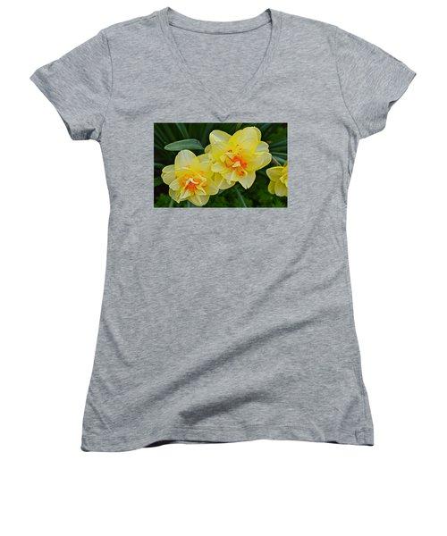 2015 Spring At The Gardens Tango Daffodil Women's V-Neck