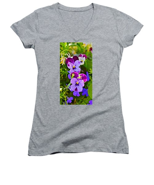 2015 Summer's Eve At The Garden Pansy Totem Women's V-Neck