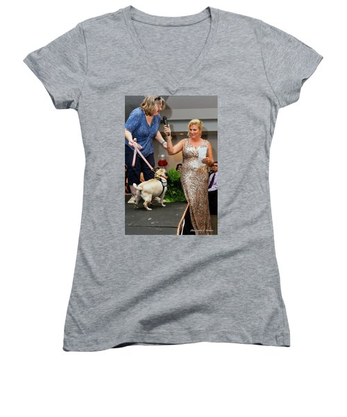 Women's V-Neck T-Shirt (Junior Cut) featuring the photograph 20160806-dsc03993 by Christopher Holmes