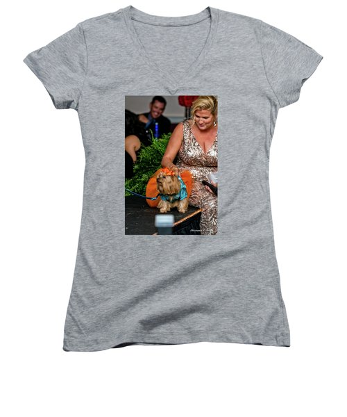 Women's V-Neck T-Shirt (Junior Cut) featuring the photograph 20160806-dsc04024 by Christopher Holmes
