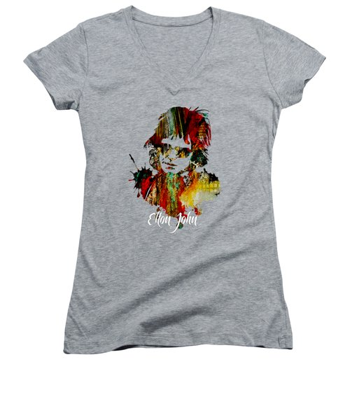 Elton John Collection Women's V-Neck T-Shirt