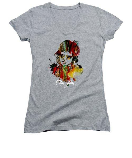 Elton John Collection Women's V-Neck (Athletic Fit)