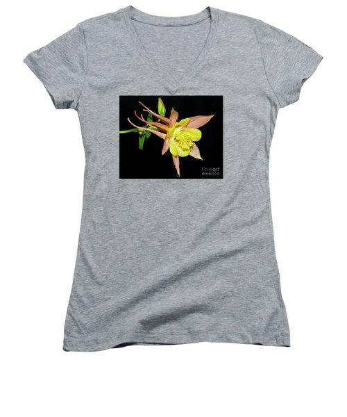 Spring Flower Women's V-Neck T-Shirt (Junior Cut) by Elvira Ladocki