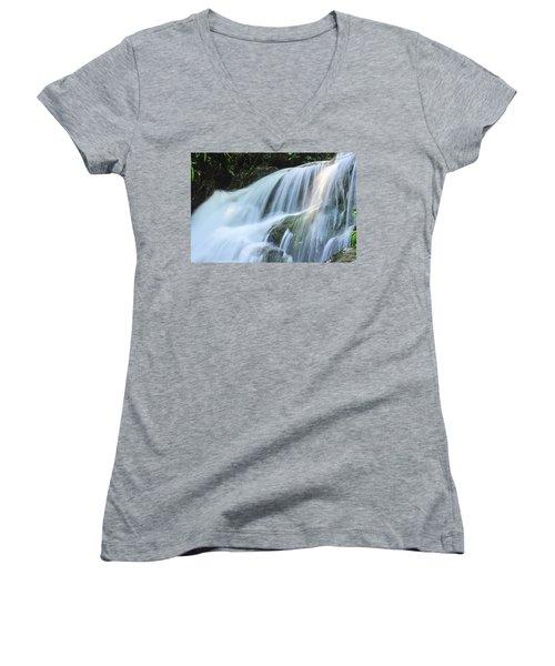Waterfall Scenery Women's V-Neck