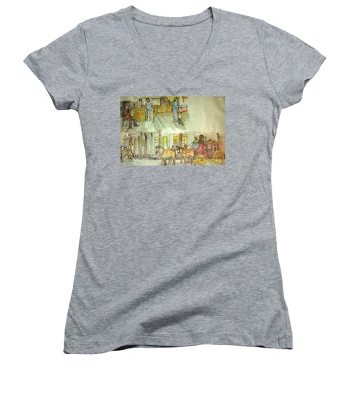 the ole' West my way album Women's V-Neck T-Shirt (Junior Cut)