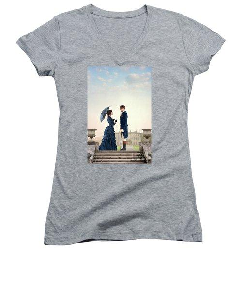Victorian Couple  Women's V-Neck T-Shirt