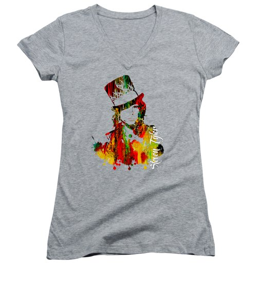 Steven Tyler Collection Women's V-Neck T-Shirt