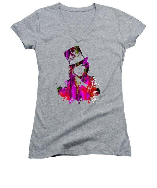 Steven Tyler Collection Women's V-Neck T-Shirt