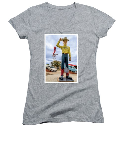 2nd Amendment Cowboy Women's V-Neck (Athletic Fit)
