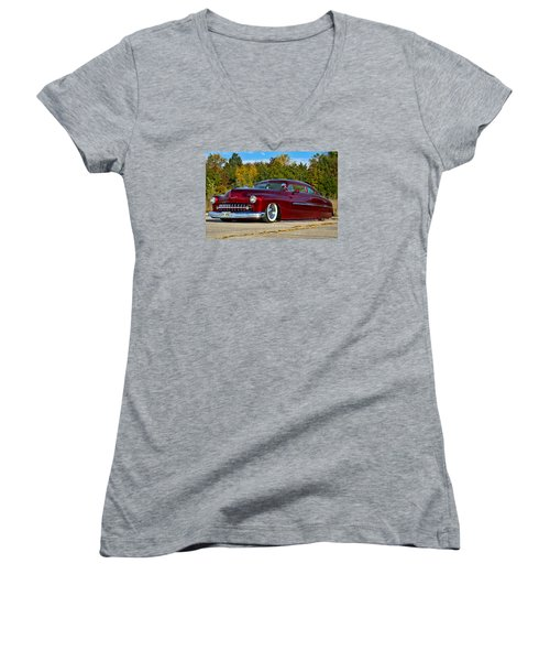 1951 Mercury Low Rider Women's V-Neck T-Shirt