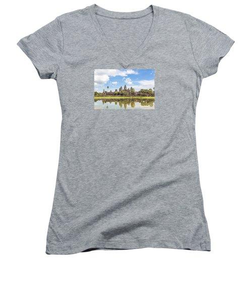 Angkor Wat Women's V-Neck T-Shirt