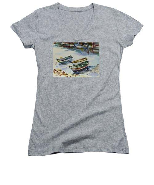 3 Boats I Women's V-Neck T-Shirt