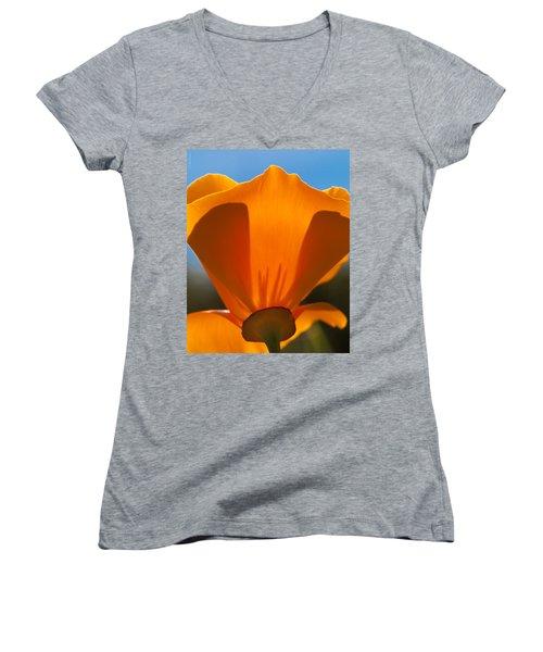 Californian Poppies Women's V-Neck
