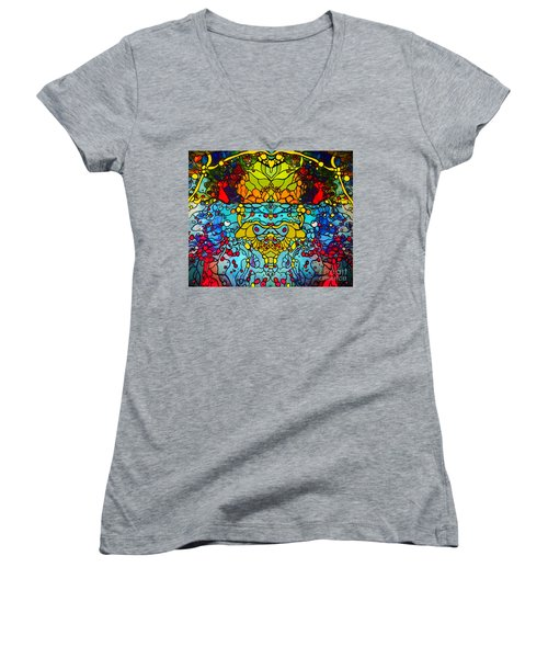 Ethereal Precision  Women's V-Neck T-Shirt