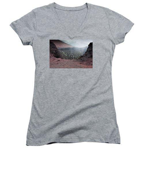 Etna, Red Mount Crater Women's V-Neck