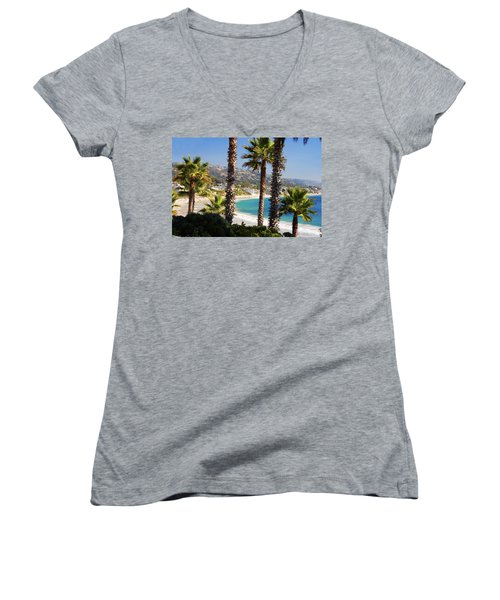 Laguna Beach California Coast Women's V-Neck (Athletic Fit)