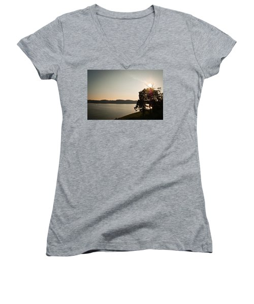 Lake Cumberland Sunset Women's V-Neck