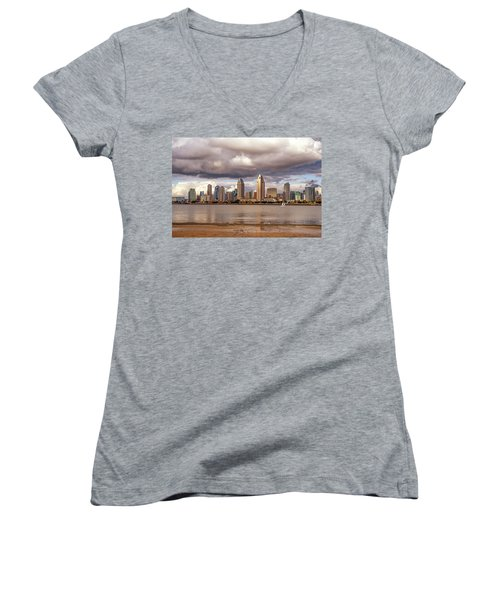 Passing By Women's V-Neck T-Shirt (Junior Cut) by Joseph S Giacalone
