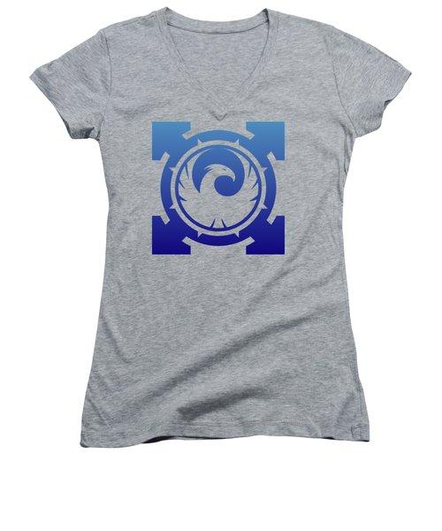 Phoenix Women's V-Neck T-Shirt (Junior Cut) by Frederick Holiday