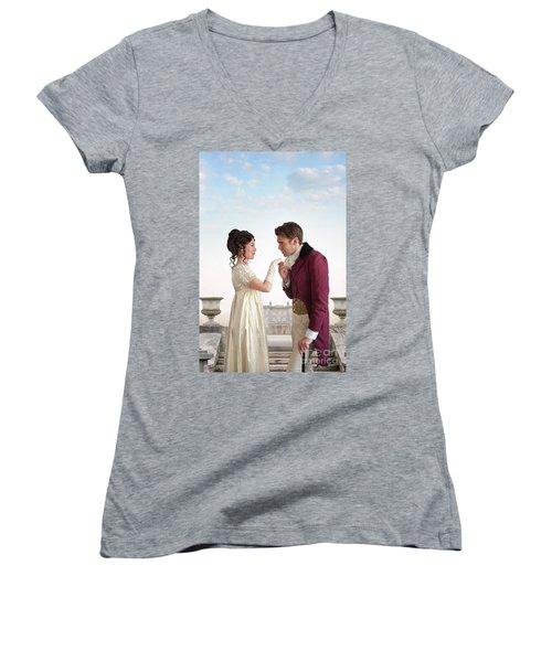 Regency Couple  Women's V-Neck T-Shirt