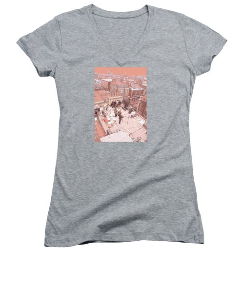 3 Savile Row, London W1s 3pb Women's V-Neck T-Shirt
