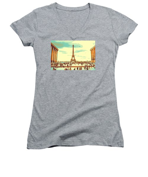 The Eiffel Tower Women's V-Neck