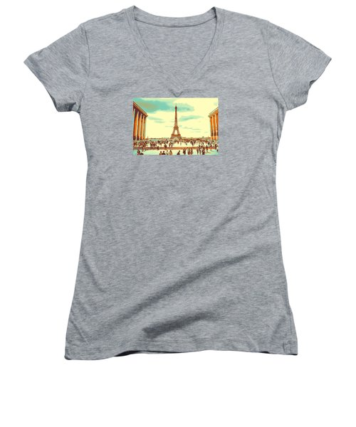 The Eiffel Tower Women's V-Neck