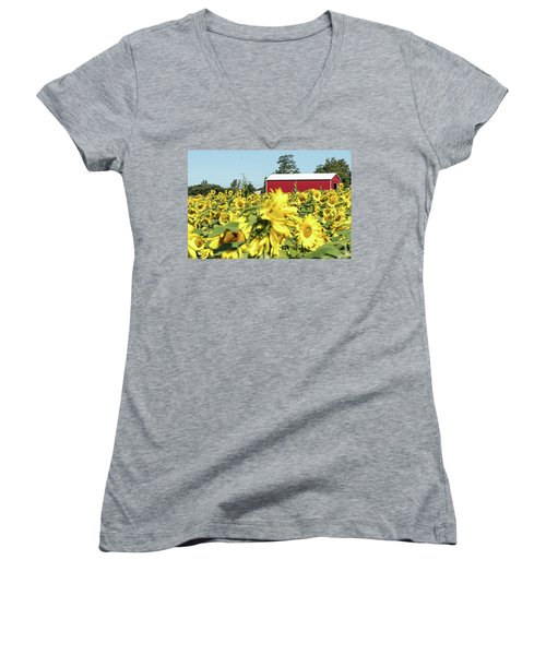 The Red Barn Women's V-Neck (Athletic Fit)