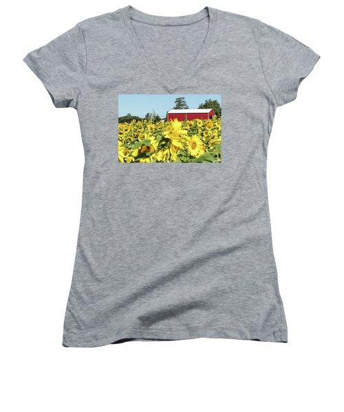 The Red Barn Women's V-Neck T-Shirt