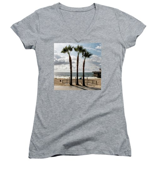 Women's V-Neck featuring the photograph 3 Trees by Eric Lake