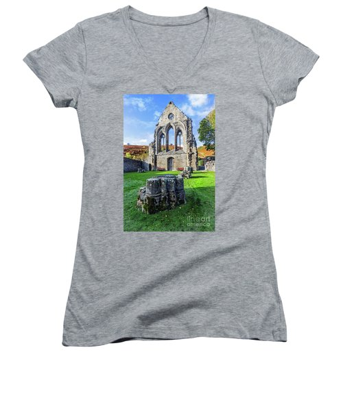 Valle Crucis Abbey Women's V-Neck (Athletic Fit)