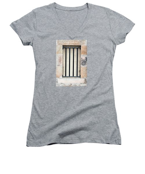 Window Bars Women's V-Neck (Athletic Fit)