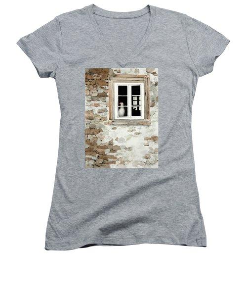 Window Dressing Women's V-Neck T-Shirt (Junior Cut)