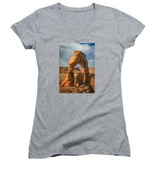#3057 - Delicate Arch, Utah Women's V-Neck (Athletic Fit)