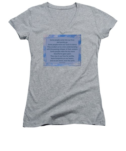 35- Some People Women's V-Neck T-Shirt (Junior Cut) by Joseph Keane