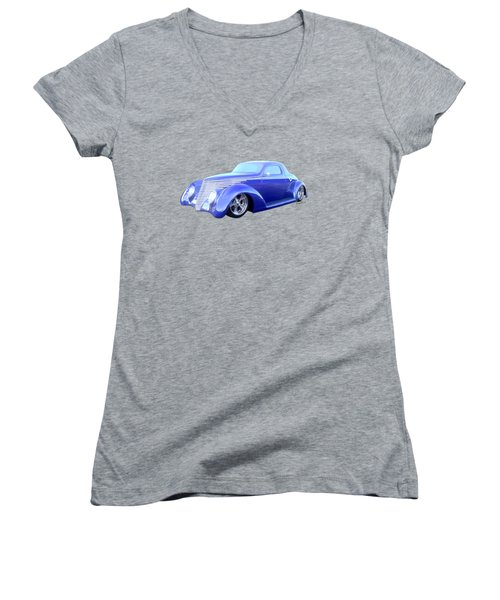 37 Coupe The Car Of Tomorrow From Yesterday Women's V-Neck (Athletic Fit)