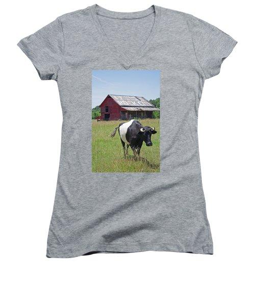37 More Miles Women's V-Neck T-Shirt (Junior Cut) by David Troxel