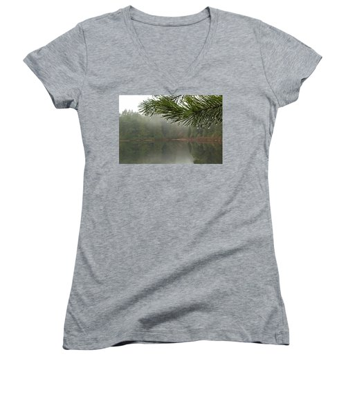 After The Rain Women's V-Neck T-Shirt (Junior Cut) by Inge Riis McDonald