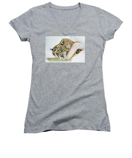 Anam Leopard Women's V-Neck T-Shirt
