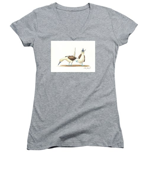 Blue Footed Boobies Women's V-Neck (Athletic Fit)