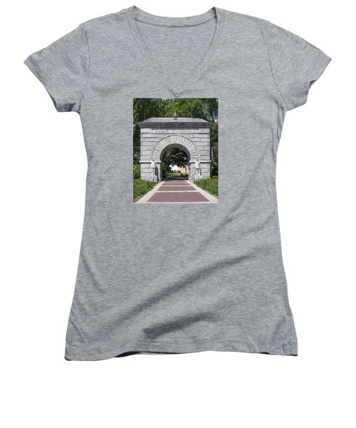 Camp Randall Memorial Arch - Madison Women's V-Neck T-Shirt