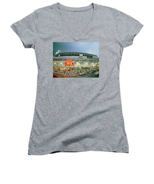 High Angle View Of Tourists Women's V-Neck T-Shirt