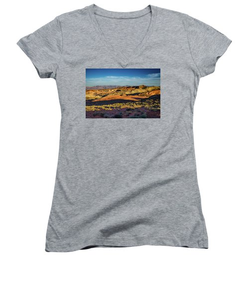 I Could Hear For Miles. Women's V-Neck (Athletic Fit)