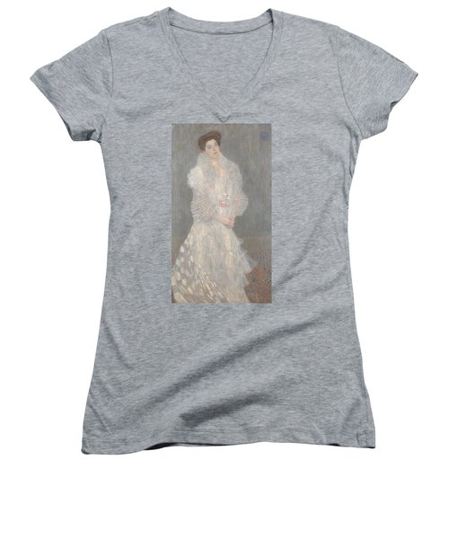 Portrait Of Hermine Gallia Women's V-Neck T-Shirt