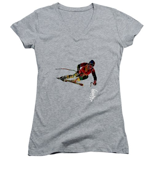 Skiing Collection Women's V-Neck (Athletic Fit)
