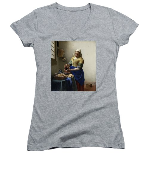 The Milkmaid, 1660 Women's V-Neck (Athletic Fit)