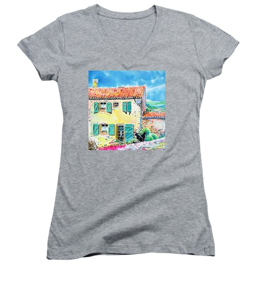 View Of Luberon Women's V-Neck (Athletic Fit)