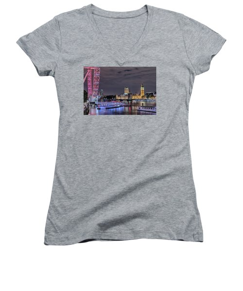 Westminster - London Women's V-Neck T-Shirt (Junior Cut) by Joana Kruse