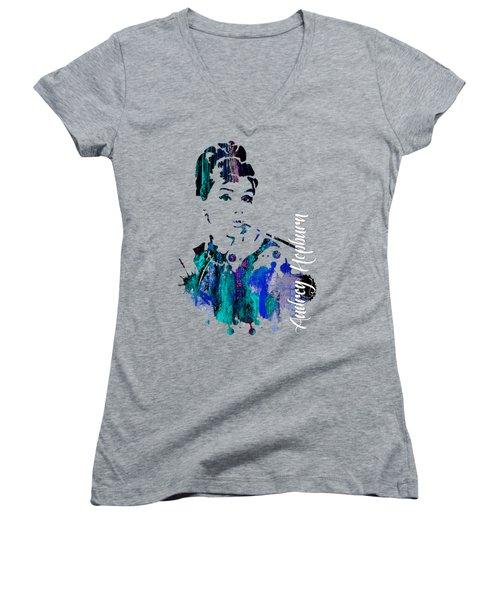 Audrey Hepburn Collection Women's V-Neck T-Shirt