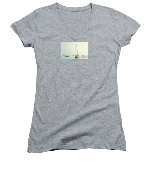 Women's V-Neck T-Shirt (Junior Cut) featuring the photograph 4373 by Peter Holme III
